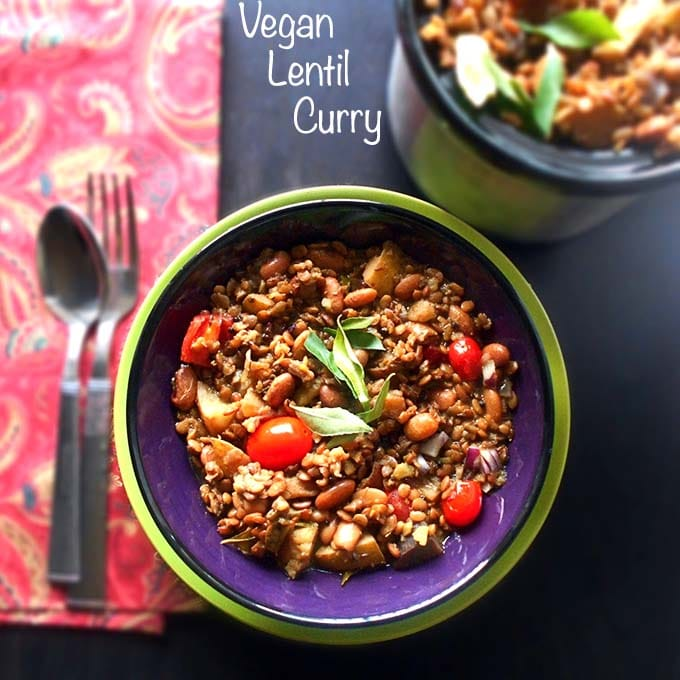 Vegan Lentil Curry – Slow Cooked