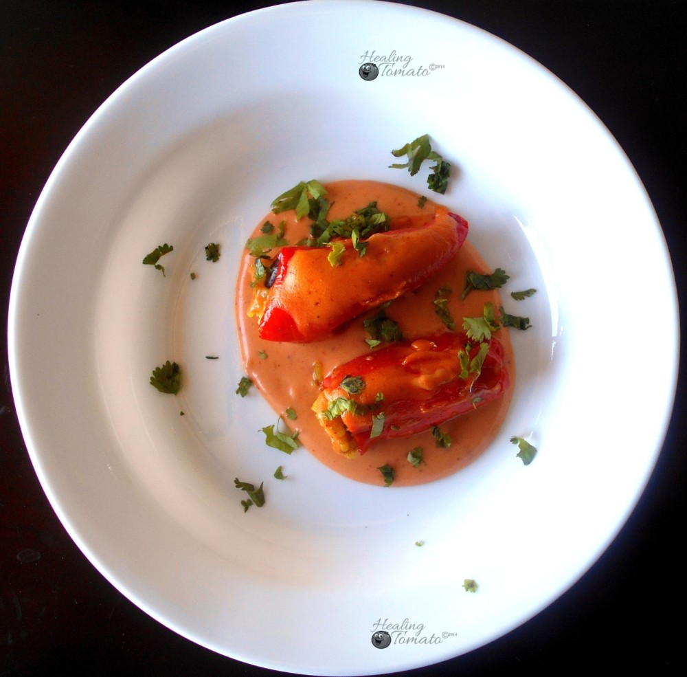 Mini Sweet Peppers Stuffed Mexican Style
