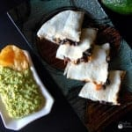 Pina Colada Guacomle using Avocados from Mexico and Old El Paso Touchdown Quesadilla