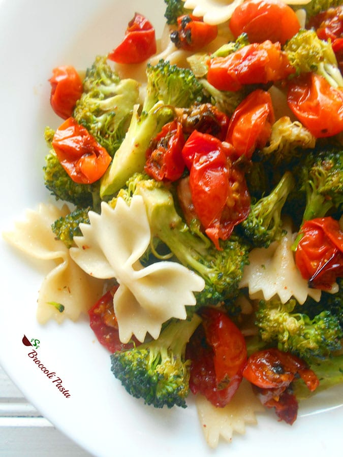 Broccoli Pasta With Roasted Tomatoes..