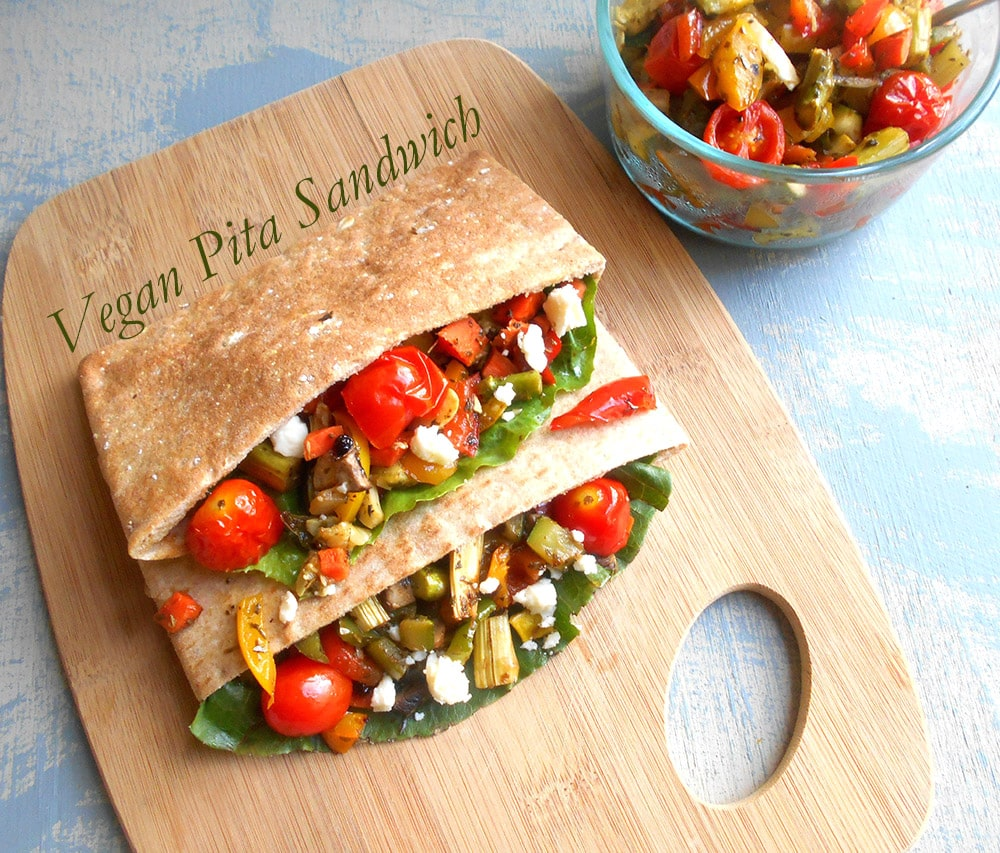 Vegan Sandwich With Fresh Veggies
